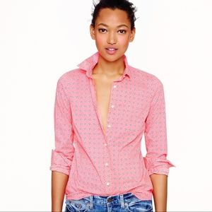 J. Crew Perfect Shirt in Pink Floral Print